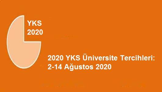 2020-Yükseköğretim Kurumları Sınavı (YKS): Tercih İşlemleri