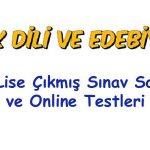 Açık Lise Türk Dili ve Edebiyatı 1 Test 2