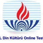 Açık Lise (116) Din Kültürü ve Ahlak Bilgisi 6 Testi (Temmuz 2019)
