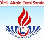 AOİHL (818) Akaid 2 Testi (Temmuz 2020)