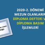 Açık Öğretim Lisesi 2. dönem mezuniyet ve diploma işlemleri