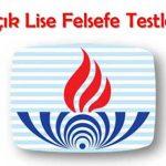 Açık Lise (122) Felsefe 2 Testi (Temmuz 2020)