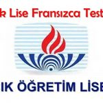 Açık Lise (501) Fransızca 7 Testi (Aralık 2018)
