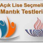 Açık Lise (478) Seçmeli Mantık 1 Testi (Temmuz 2020)