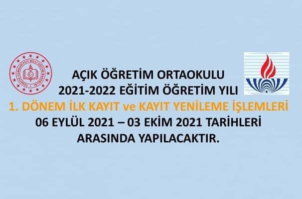 Açık Lise 2021-2022 1. Dönem kayıtları 6 Eylül'de başlıyor