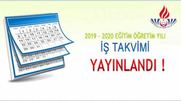 AÖ İmam Hatip Lisesi İş Takvimi 2019 2020