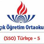 Açık Öğretim Ortaokulu 2018-2019 Öğretim Yılı 3. Dönem Sınavı (830) Türkçe – 8