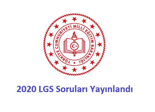 LGS soru ve cevapları yayınlandı
