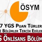 YGS 2 Puanlı Önlisans Programları (2 Yıllık Meslek Yüksek Okulları)
